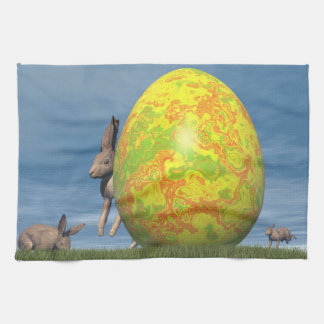 Easter egg - 3D render Tea Towel