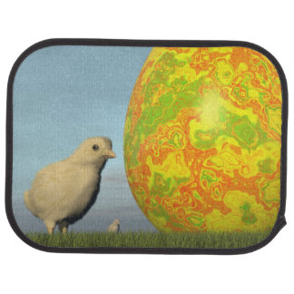 Easter egg and chicks - 3D render Car Mat