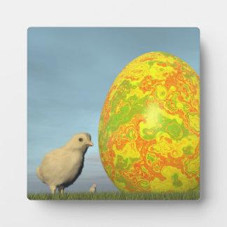 Easter egg and chicks - 3D render Plaque