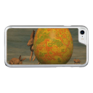 Easter egg and hare - 3D render Carved iPhone 7 Case