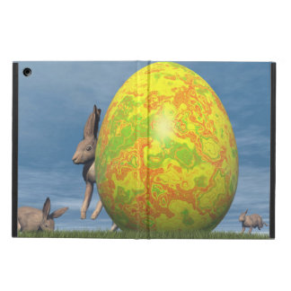 Easter egg and hare - 3D render iPad Air Cover