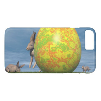 Easter egg and hare - 3D render iPhone 8 Plus/7 Plus Case