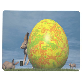 Easter egg and hare - 3D render Journal