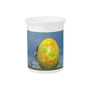 Easter egg and hare - 3D render Pitcher