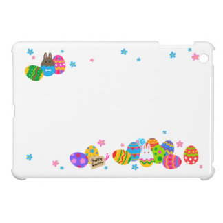 < Easter egg and rabbit pile > Easter Eggs & iPad Mini Cover