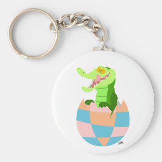 Easter egg basic round button key ring