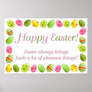 Easter Egg Border Print
