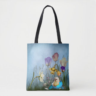 Easter Egg Chicken All-Over-Print Tote Bag