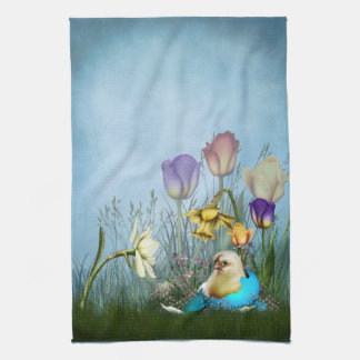 Easter Egg Chicken Kitchen Towel