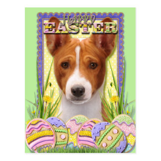 Easter Egg Cookies - Basenji Postcard