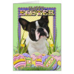 Easter Egg Cookies - Boston Terrier