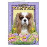 Easter Egg Cookies - Cavalier - Blenheim Greeting Card