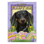 Easter Egg Cookies - Dachshund Greeting Card