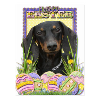 Easter Egg Cookies - Dachshund Postcard