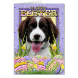 Easter Egg Cookies - English Springer Spaniel Greeting Card