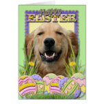 Easter Egg Cookies - Golden Retriever Greeting Card