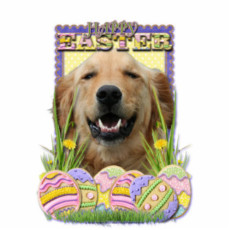 Easter Egg Cookies - Golden Retriever Standing Photo Sculpture