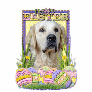 Easter Egg Cookies - Golden Retriever - Tebow Cut Out