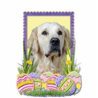 Easter Egg Cookies - Golden Retriever - Tebow Photo Cut Outs