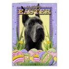 Easter Egg Cookies - Great Dane - Grey Card
