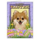 Easter Egg Cookies - Pomeranian Card