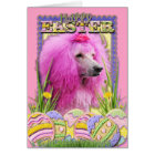 Easter Egg Cookies - Poodle - Pink Card