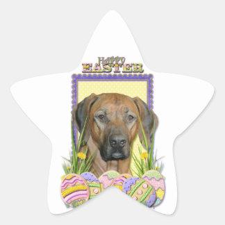 Easter Egg Cookies - Rhodesian Ridgeback Star Sticker
