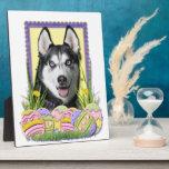 Easter Egg Cookies - Siberian Husky Display Plaque