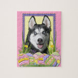 Easter Egg Cookies - Siberian Husky Puzzle