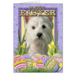 Easter Egg Cookies - West Highland Terrier Greeting Card