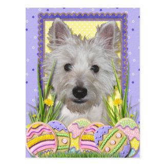 Easter Egg Cookies - West Highland Terrier - Tank Postcard
