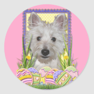 Easter Egg Cookies - West Highland Terrier - Tank Round Sticker