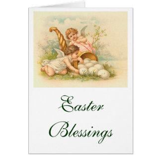 Easter Egg Cornucopia Vintage Landscape Card