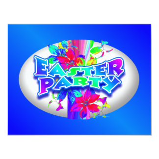 """Easter Egg Decorating Party Invitation 4.25"""" X 5.5"""" Invitation Card"""