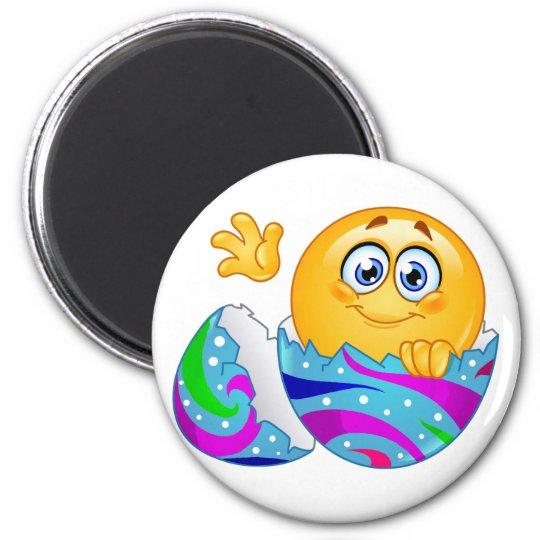 Easter egg Emoji 6 Cm Round Magnet