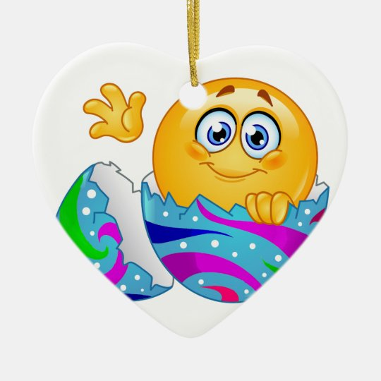 Easter egg Emoji Ceramic Ornament
