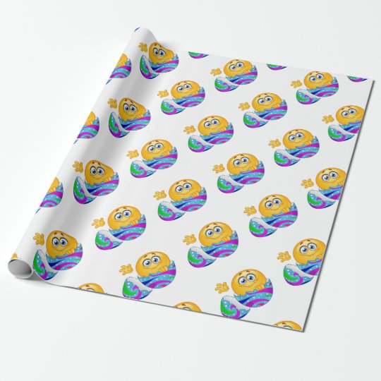 Easter egg Emoji Wrapping Paper