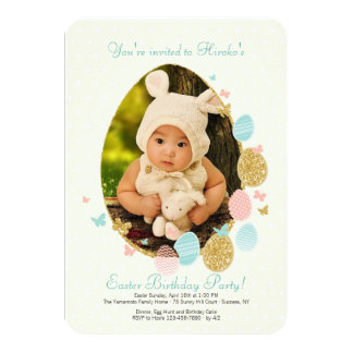 Easter Egg Frame Photo Invitation