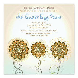 Easter Egg Hunt 13 Cm X 13 Cm Square Invitation Card