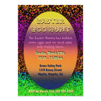 Easter Egg Hunt 13 Cm X 18 Cm Invitation Card
