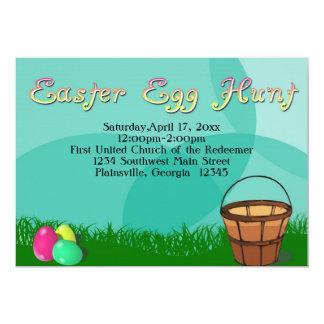 Easter Egg Hunt, 3 Eggs with Basket Card