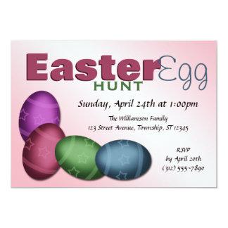 "Easter Egg Hunt ~ 4 Egg Easter Invitations 5"" X 7"" Invitation Card"