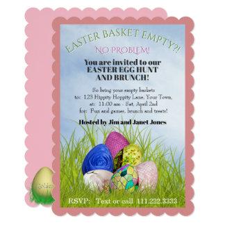 Easter Egg Hunt and Brunch Floral Photography Card