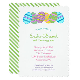 Easter Egg Hunt and Brunch Party Invitation