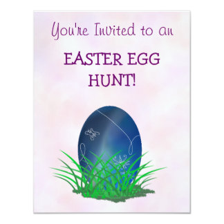 "Easter Egg Hunt Colorful Eggs Invitation 4.25"" X 5.5"" Invitation Card"