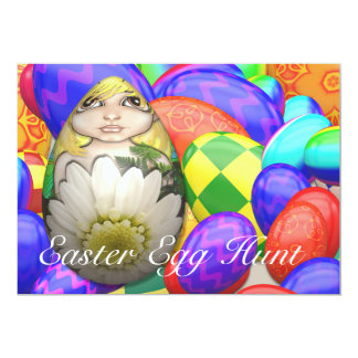 Easter Egg Hunt Daisy Invitation
