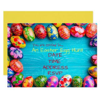 Easter Egg Hunt Easter Party Card