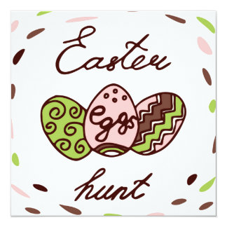 Easter Egg Hunt | Holiday Doodle Greeting Card