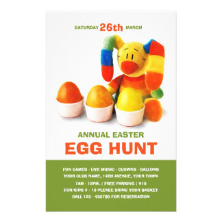 Easter Egg Hunt Invitation Custom Flyers