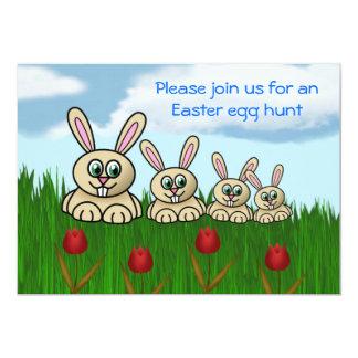 "Easter Egg Hunt Invitation Easter fun Easter bunny 5"" X 7"" Invitation Card"